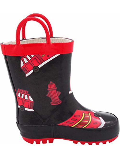 Boys and Girls Solid /& Printed Rainboots for Toddlers and Kids NORTY Waterproof Rubber Rain Boots for Kids