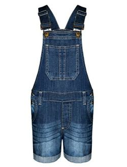AEL New Girls Kids Denim Dungaree Outfit Shorts Dress Jumpsuit Party Size 3-14 Years