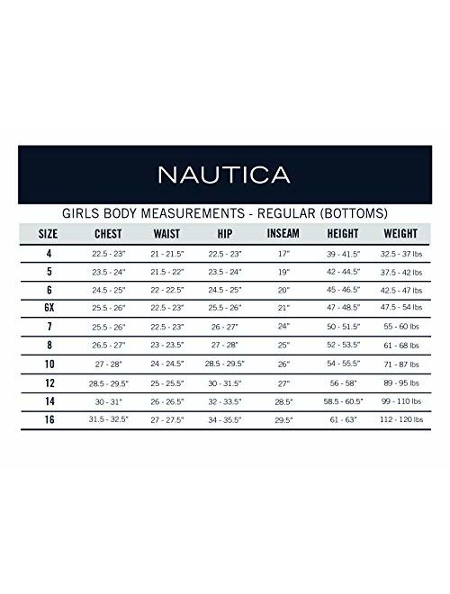 Nautica Girls' School Uniform Skinny Fit Stretch Twill Pant