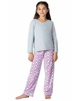 PajamaGram Big Girls Pajamas Cozy - Snuggle Fleece Pajamas Girls