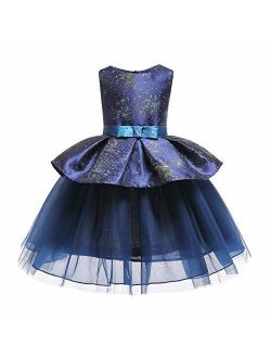 Gentonkids Girls Ball Gowns Sleeveless Cocktail Wedding Pageant Dresses 2-9 Years