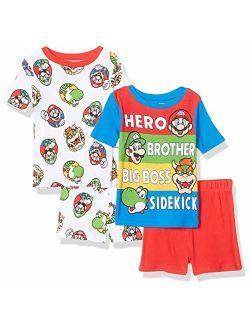 Nintendo Boy's Super Mario 4-Piece Cotton Pajama Set