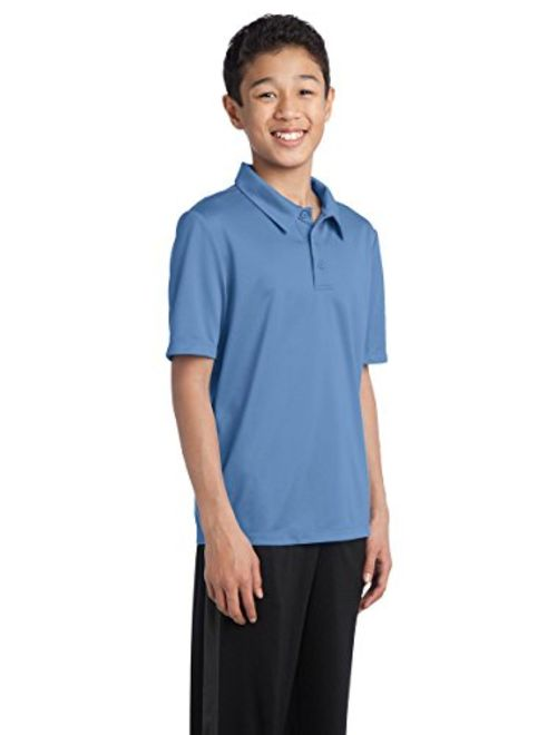 """Port Authority-Youth """"Silk Touch"""" Performance Polo Shirt. Y540-Red"""