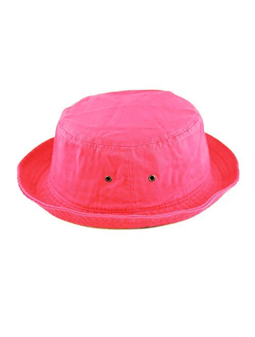 The Hat Depot Youth Kids Washed Cotton Packable Bucket Travel Hat Cap