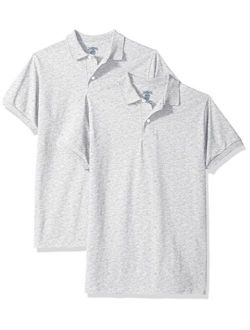 Jerzees Boys' SpotShield Short Sleeve Uniform Polo (2-Pack)