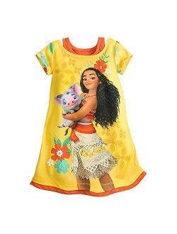 Moana Nightshirt For Girls Yellow