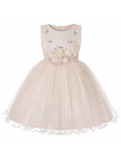 JIANLANPTT Pretty Child Little Girl Wedding Dress Formal Party Dresses Kids Wear