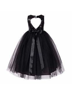 ekidsbridal Heart Cutout Sequin Formal Flower Girl Dress Toddler Girl Dresses 172seq