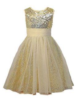 Mermaidtalee Sequin Baby Flower Girl's Dresses Occasion Dresses Long