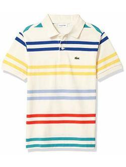 Boys' Striped Pique Polo Shirt