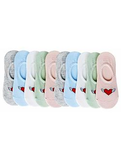 CHUNG Toddler Little Girls Thin No Show Cotton Socks Low Cut Ankle Summer 10 Pack Fashion Fun Casual