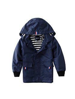 M2C Boys Girls Hooded Cotton Lined Jacket Outdoor Light Windbreaker