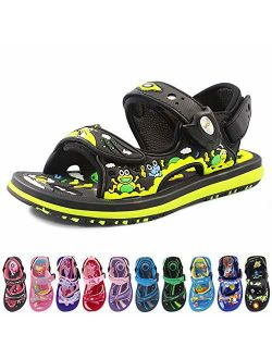 Kids Classic Easy SNAP Lock Sandals & Slides with Adjustable Straps