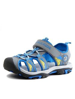 JACKSHIBO Girls Boys Summer Beach Breathable Athletic Closed-Toe Sandals for Kids(Toddler/Little Kid/Big Kid)
