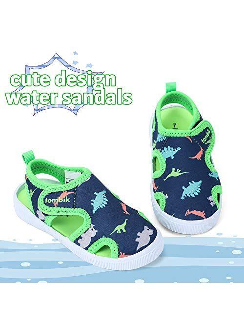 tombik Toddler Cute Aquatic Water Shoes Boys/Girls Beach Sandals