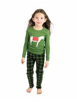 Kids & Toddler Pajamas Boys 2 Piece Pjs Set Cotton Top & Fleece Pants Sleepwear (2-14 Years)