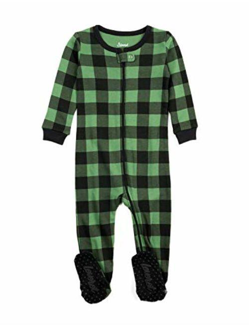 Leveret Baby Boys Girls Christmas Footed Pajamas Sleeper 100% Cotton Kids & Toddler Pjs (6 Months-5 Toddler)