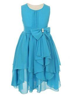 iGirlDress Little Girls Yoryu Chiffon Flower Girl Dress Size 4-14