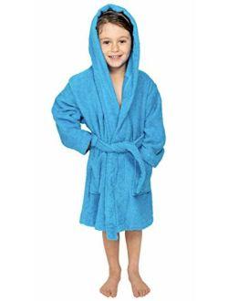 Bagno Milano Kids - Unisex Hooded Organic Bathrobe GOTS Organic Turkish Cotton - Boys - Girls Robe, Made in Turkey