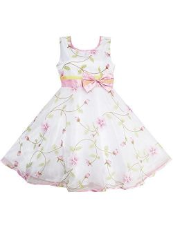 Girls Dress Pink Rose Wedding Pageant Boutique