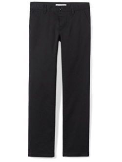 Girl's Flat Front Uniform Chino Pant