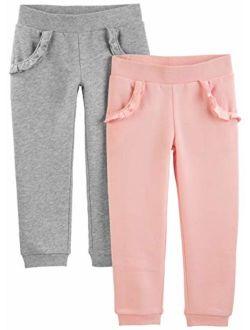 Toddler Girls' 2-pack Pull On Fleece Pants