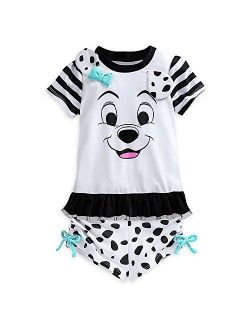 101 Dalmatians Rash Guard Set For Girls White
