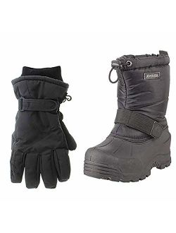 Frosty Kids Winter Snow Boots & Gloves Combo For Girls & Boys