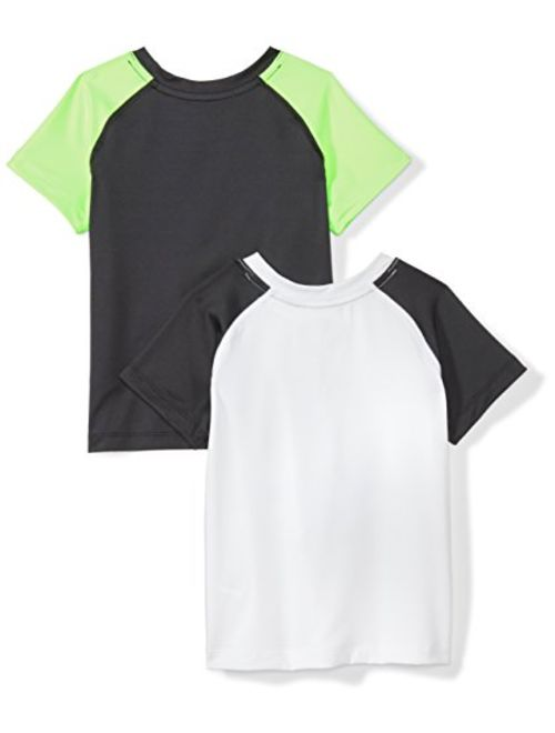 Amazon Brand - Spotted Zebra Boys' Toddler & Kids 2-Pack Active Short-Sleeve T-Shirts
