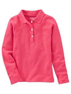 Girls' Long-sleeve Uniform Polo Shirt