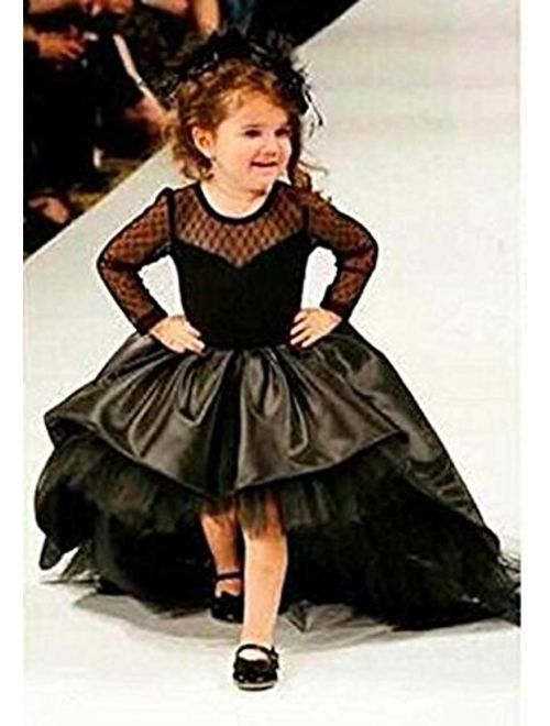 Helen Hi-lo Flower Girls Dresses for Weddings Pageant Toddler Gowns 110