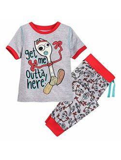 Forky Pajama Set For Boys - Toy Story 4 Size Multi
