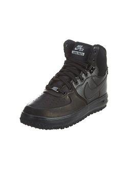 Kid's Lunar Force 1 Sneaker Boot, Black/metallic Silver