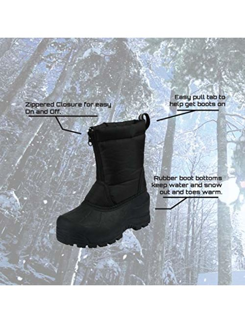 Northside Icicle Kids Winter Snow Boots & Gloves Combo for Girls & Boys