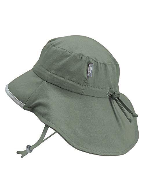 JAN & JUL Kids' GRO-with-Me Aqua-Dry Adventure Hat | 50+ UPF Wide Brim Water-Repellent Sunhat
