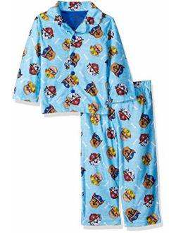Nickelodeon Boys' Paw Patrol 2-Piece Button Front Pajama Set