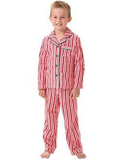 PajamaGram Big Boys Fleece Button-Front Pajama Set