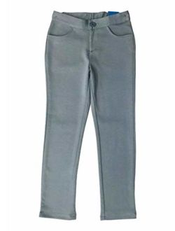 unik Girl Premium Stretch Pants Regular and Plus/Half Sizes Grey Hunter Green Black Navy Khaki