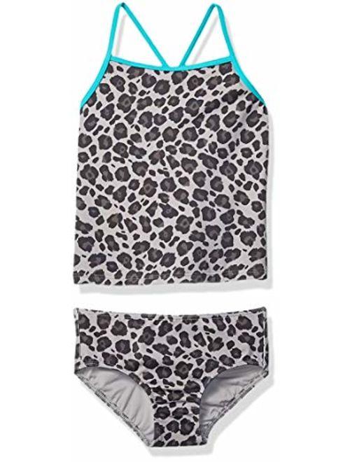 Amazon Brand - Spotted Zebra Girl's Toddler & Kid's Tankini Swimsuit