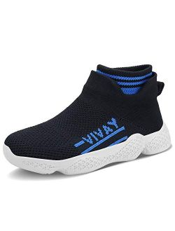 Ceryman Kids Running Shoes Lightweight Breathable Balenciaga Look Casual Athletic Walking Sneakers Slip-on Socks Shoes for Boys and Girls