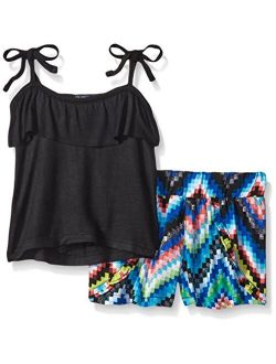 Girls' Knit Top And Short Set