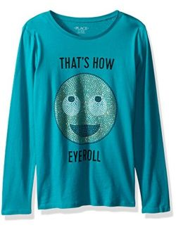Girls' Long Sleeve Graphic T-shirt