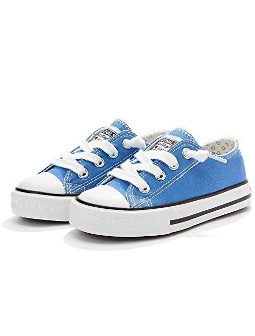 Weestep Toddler Little Kid Boys and Girls Slip On Canvas Sneakers