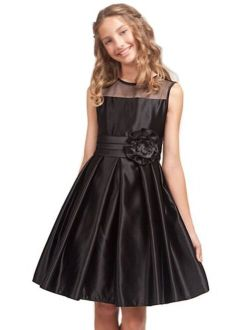 Kid Collection Girls Simply Satin Dress