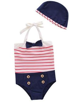 BIGCARJOB Kids Boys Swim Set Summer 3piece Swimsuit UV Protector Short Sleeve Bathing Suit with Swim Hat
