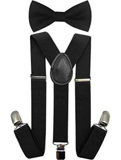 Keywin Baby Kids Boys Girls Toddler Suspender /& Bow Tie Set Elastic Adjustable Clip-on Suspender-Heavy Duty