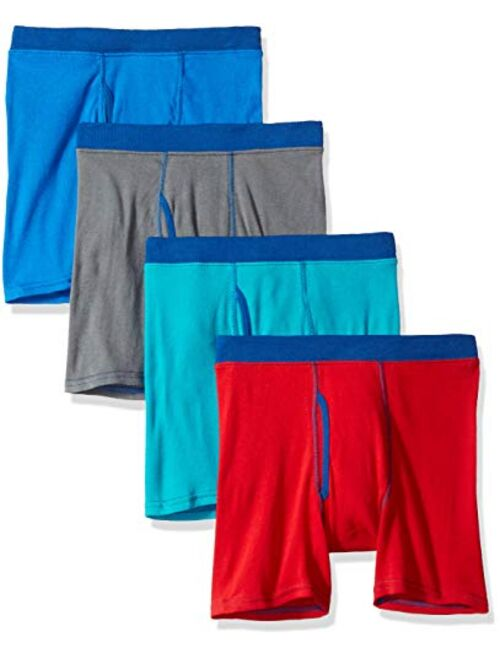 Hanes Boys' 4 Pack Ultimate Comfortsoft Black and Grey Dyed Boxer Brief