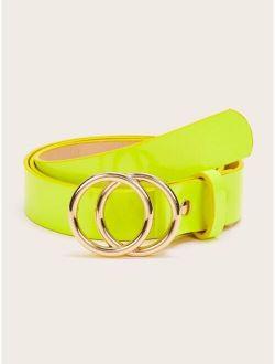 Double O-ring Neon Yellow Buckle Belt