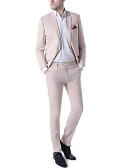 Botong Men's Wedding 2 Pieces Suits Groom Tuxedos 2 Buttons