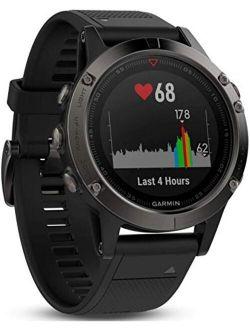 Fnix 5, Premium And Rugged Multisport Gps Smartwatch, Slate Gray/black Band, 47 Mm